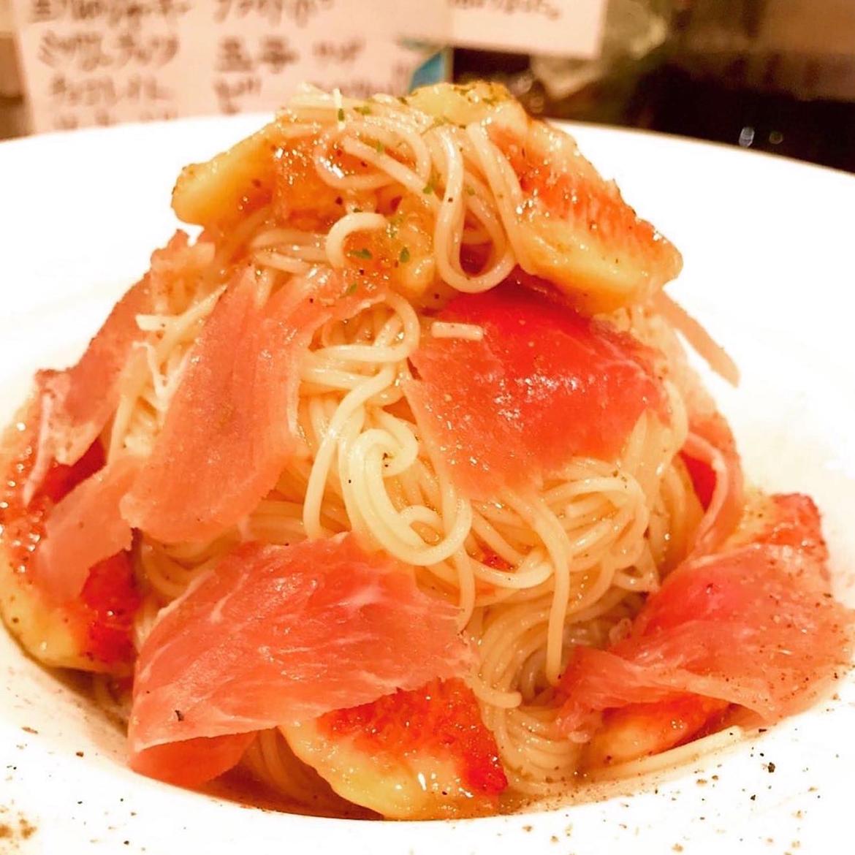 神戸産イチジクと生ハムの冷製パスタ