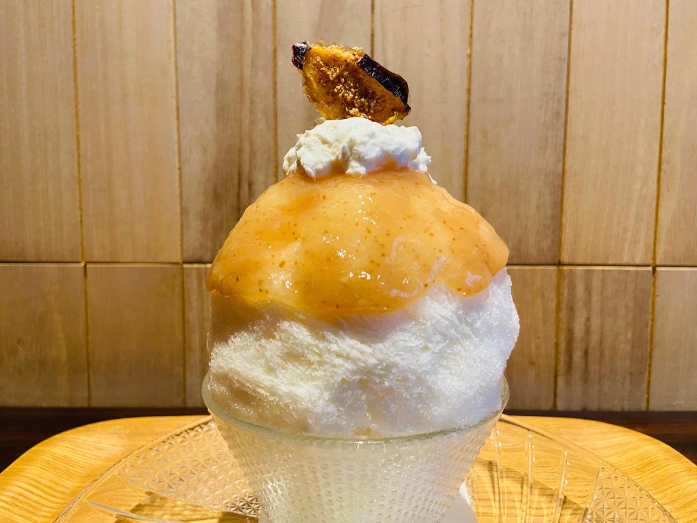 神戸産いちじくと淡路のヨーグルト氷